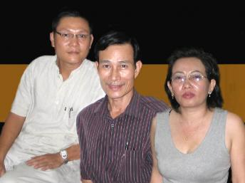 Từ trái qua phải: Phan Thanh Hải, Nguyễn Văn Hải, Tạ Phong Tần