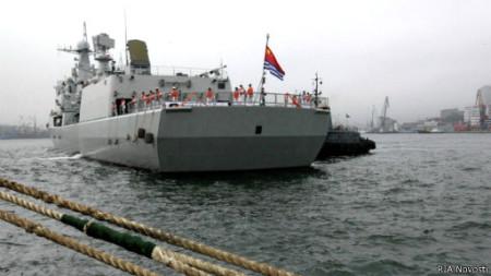 Tàu hải quân Trung Quốc trong một chuyến thăm Vladivostok