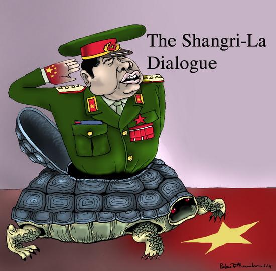 Phùng Quang Thanh đánh chuông ở Shangri-La