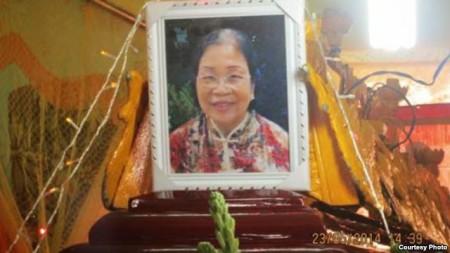 Di ảnh bà Lê Thị Tuyết Mai
