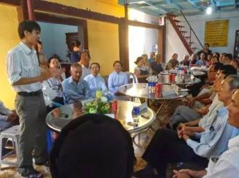 TS Phạm Chí Dũng phát biểu trong cuộc họp 16 tổ chức xã hội dân sự tại Saigon ngày 05/06/2014.