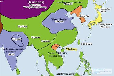 Bản đồ Việt Nam (Văn Lang) thời lập quốc