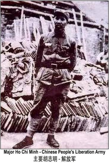 Thiếu tá Hồ Quang (HCM) phục vụ trong Quân đội Nhân dân Giải phóng Trung Cộng, tại quân khu Quảng Châu, Vũ Hán. Nguồn:Lưu trữ Quân ủy Trung ương Trung Cộng.