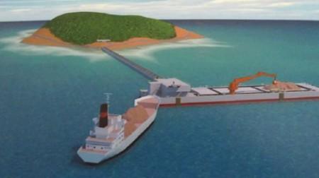 Phiên bản đồ họa của những cảng nổi này được trình chiếu tại triển lãm Shiptec China 2014.