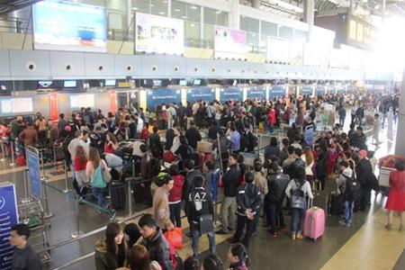 Một cảnh ở sân bay Nội Bài. Ảnh tinmoi.vn