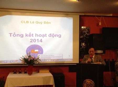 Buổi gặp mặt cuối năm 2014 của CLB Lê Quý Đôn. Ảnh Facebook Đào Duy Tiến