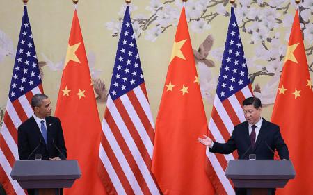 Hình (NY Daily News): Họp báo chung của Tổng Thống Barack Obama và Chủ Tịch Tập Cận Bình tại Bắc Kinh ngày 12-11-2014.