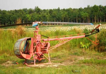 Chiếc máy bay của ông Hải khi được thử nghiệm