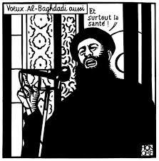 Tấm hình châm biếm Abu Bakr al-Baghdadi trên Charlie là nguyên nhân của cuộc khủng bố