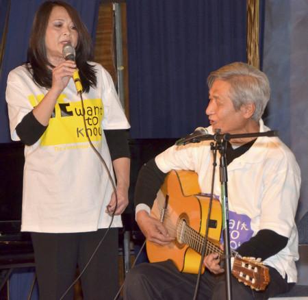 Anh chị Nam Thư với nhạc phẩm Lên Đường Về Nguồn và Về Rừng Núi.