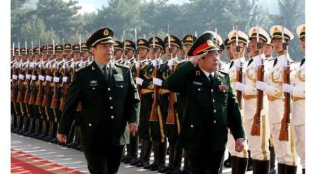 Quân đội Trung Quốc đứng thứ ba, Việt Nam thứ 23. Ảnh BBC