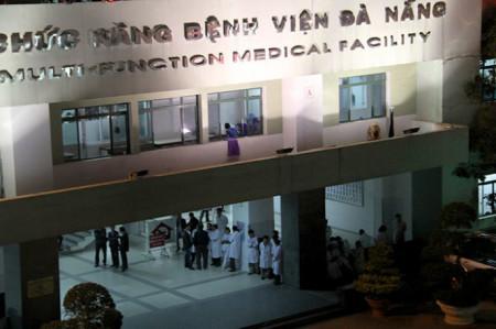 Bệnh viện, nơi ông Thanh được đưa tới.