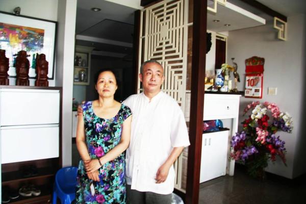 Bọ Lập cùng cô Hồng (vợ Bọ) sáng 10/02/2015