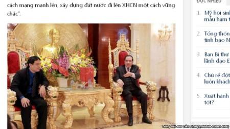 Mặc dù Tiền Phong xá bài đi, nhưng bức ảnh đã lan truyền trên nhiều trang mạng khác