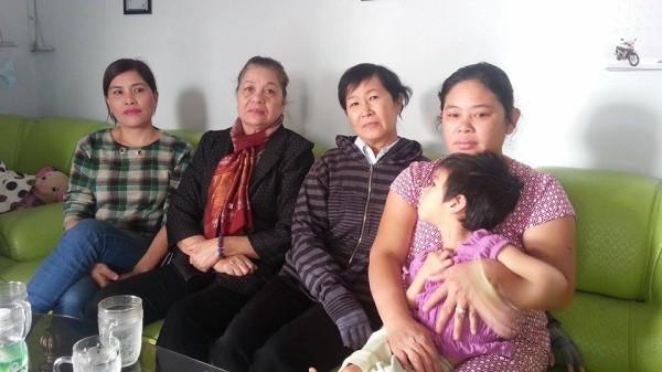 Vợ TNLT Nguyễn Văn Hữu có em bé bị bệnh nặng