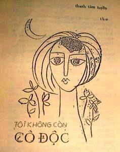 Mẫu bìa tập thơ  Tôi không còn cô độc, Nxb Người Việt, Sài Gòn 1956