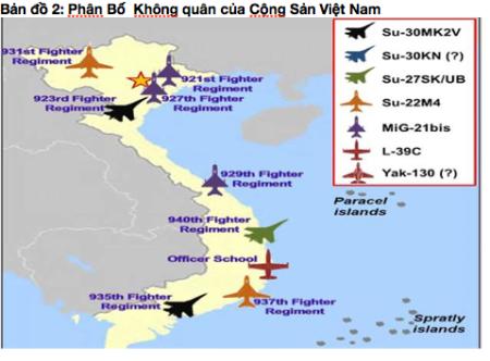 Phân Bố Không quân của Cộng Sản Việt Nam