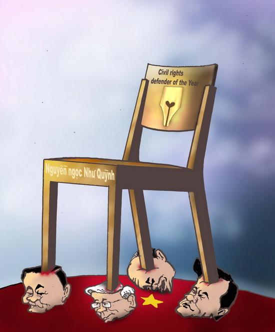 Chiếc ghế của NN Như Quỳnh ở Thụy Điển