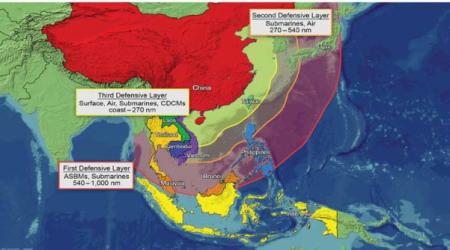 Vòng đai phòng thủ biển của Trung Quốc