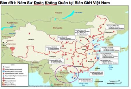 Năm Sư Đoàn Không quân TQ tại biên giới Việt Nam