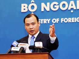 ông Nguyễn Hải Bình, phát ngôn viên bộ Ngoại Giao VN phản đối đạo luật S-219