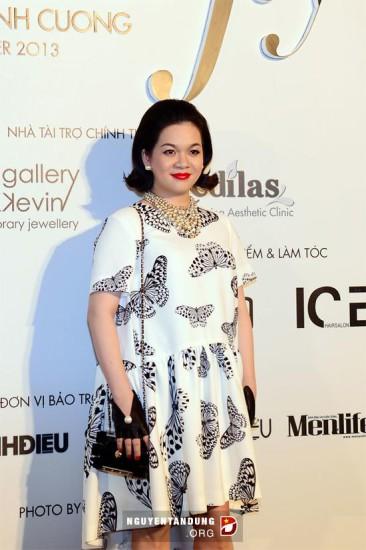 Bà Nguyễn Thanh Phượng trong buổi ra mắt bộ sưu tầm mốt. Ảnh Internet