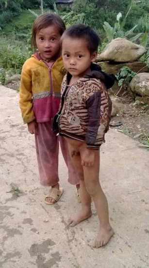 Trẻ con ở huyện Bát Xát, tỉnh Lào Cai. Ảnh: Phạm Ánh Ngọc