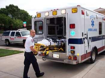 Xe cứu thương ở Mỹ. ảnh mang tính minh họa