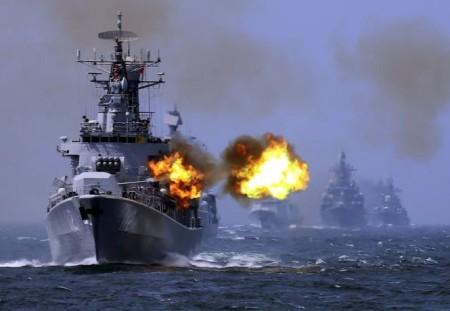 Hơn 100 tàu chiến Trung Quốc đã tham gia cuộc tập trận - Ảnh: atimes.com