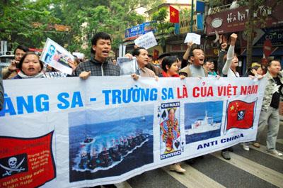 Anti-China Rally Held In Vietnam
