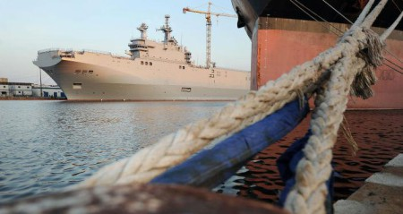 Trong thương vụ cung cấp cho Hải quân Nga hai tàu sân bay lớp Mistral đã đánh dấu hấm hết.