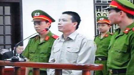 Ông Đoàn Văn Vươn tại phiên tòa xét xử
