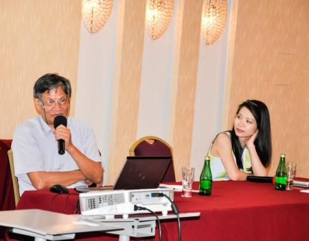 Tiến sĩ Nguyễn Quang A và Nguyễn Thái Linh