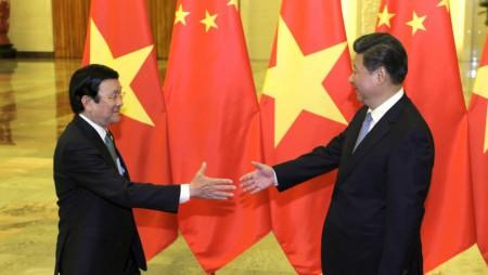 Chủ tịch VN Trương Tấn Sang và Chủ tịch Trung Quốc Tập Cận Bình trong lần viếng thăm Bắc Kinh 03/09/2015 - REUTERS
