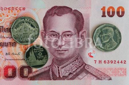 Tiền Baht. Ảnh: fotolibra.com