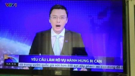 Truyền hình Việt Nam đưa tin về vụ Đỗ Đăng Dư bị hành hung.