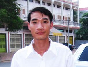 Lê Trí Tuệ mất tích tại Campuchia vào ngày 16 tháng 5 năm 2007. Ảnh: RFA