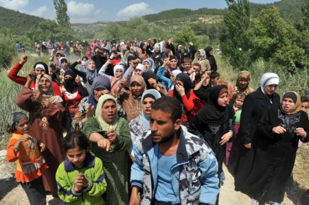 Dòng người tị nạn vào châu Âu. Ảnh antyweb.pl