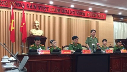 Công an Hà Nội thông báo kết quả điều tra vụ 2 Luật sư bị hành hung. Ảnh: LD