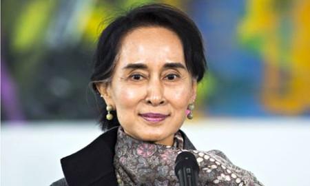 Aung San Suu Kyi visit to Berlin, Germany - 10 Apr 2014