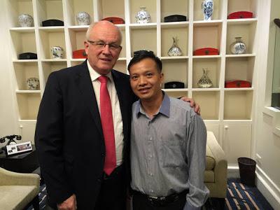 Nghị sĩ Quốc hội Đức Volker Kauder và luật sư Nguyễn Văn Đài