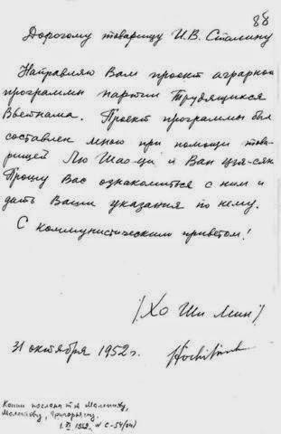 Thư HCM gửi Stalin