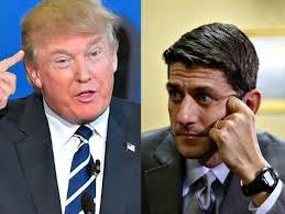 Donald Trump (trái) và Paul Ryan