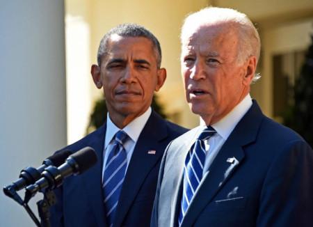 """H1Tổng thống Mỹ Barack Obama và """"Phó tướng"""" Joe Biden. Ảnh AFP/TTXVN."""