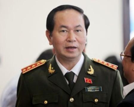 Bộ trưởng Bộ Công an Trần Đại Quang. Nguồn (Hình): Báo Kinh tế nông thôn