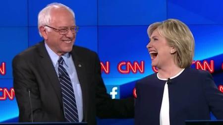 Bà Hillary Clinton và ông Bernie Sanders