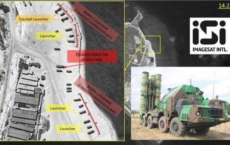 Ảnh vệ tinh cho thấy các bệ phóng tên lửa trên đảo Phú Lâm (Ảnh: Fox News)