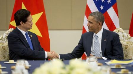 Ảnh minh họa: Tổng thống Obama và Thủ tướng Việt Nam Nguyễn Tấn Dũng trong cuộc họp tại Naypyitaw, Myanamr, ngày 13/11/2014