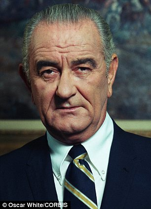 Lyndon Johnson. Ảnh Oscar. www.dailymail.co.uk