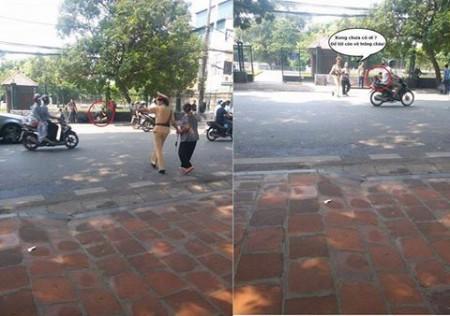 Xong chưa cô ơi, cho tôi về nhà bế cháu! Ảnh & chú thích: Facebook Con Đường Việt Nam